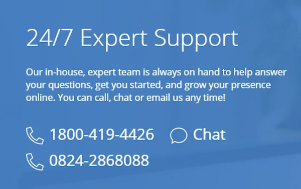 bluehost india customer support numbers