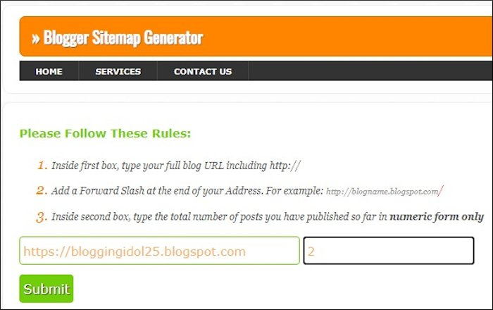 Sitemap Generator for specific number of posts