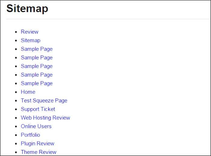 HTML sitemap image