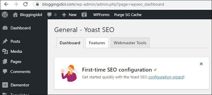 go to Yoast SEO Features
