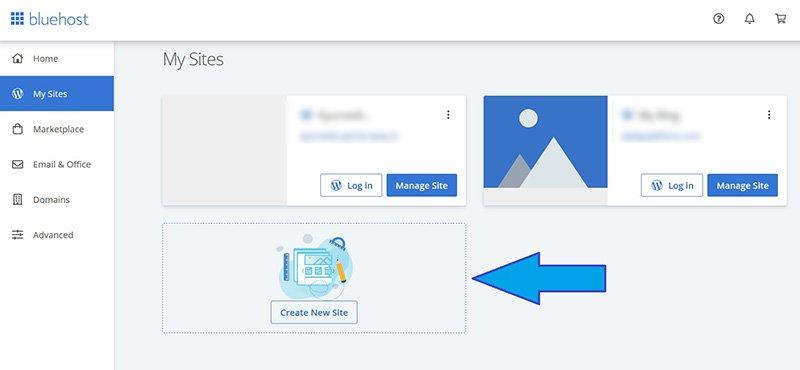 install wordpress in bluehost dashboard