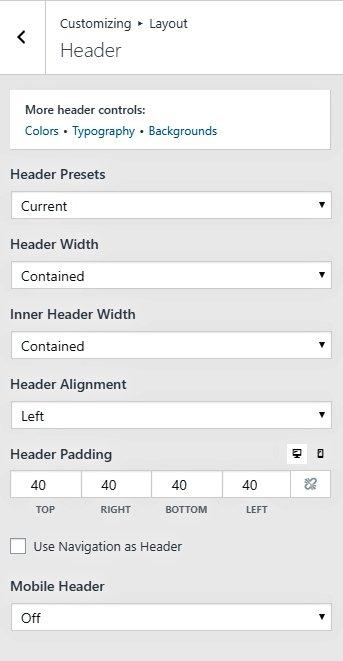 generatepress header customization