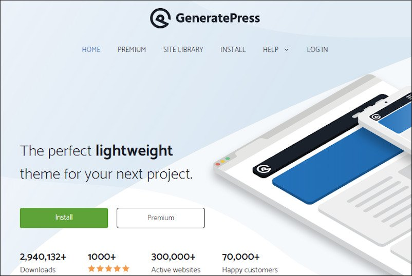generatepress downloads and happy customers