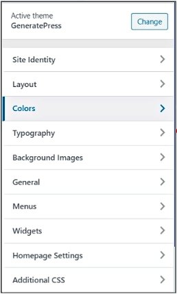 generatepress user friendliness- theme options in one line