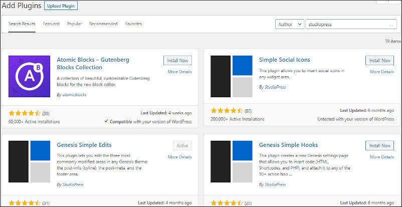 genesis dedicated plugins for customization and simple edits