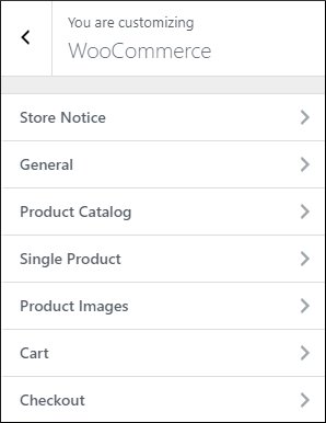 astra woocommerce options