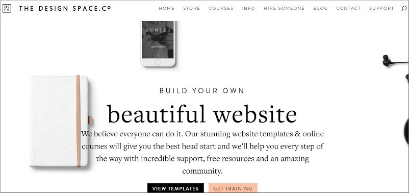 The Design Space official website - built using Divi