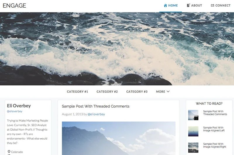 engage an awesome looking responsive genesis theme