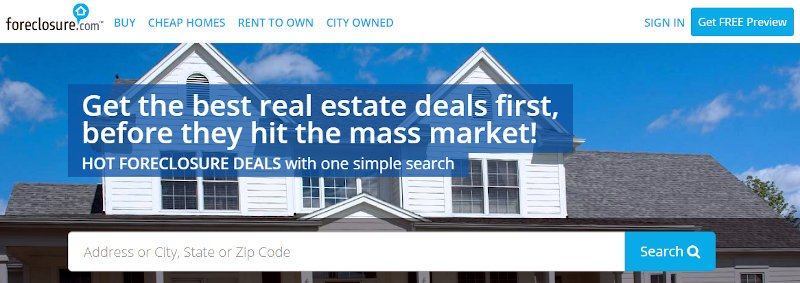 forclosure real estate official website