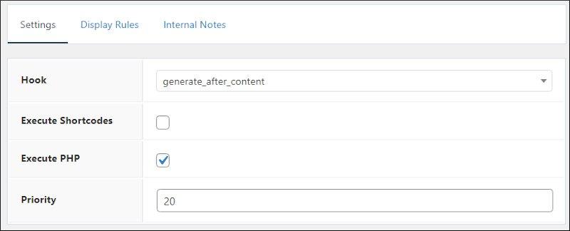 generatepress author box hook settings