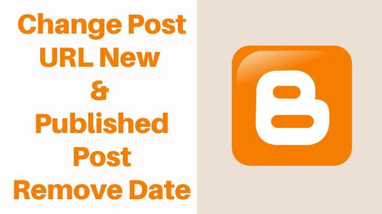 how to change post url in blogger