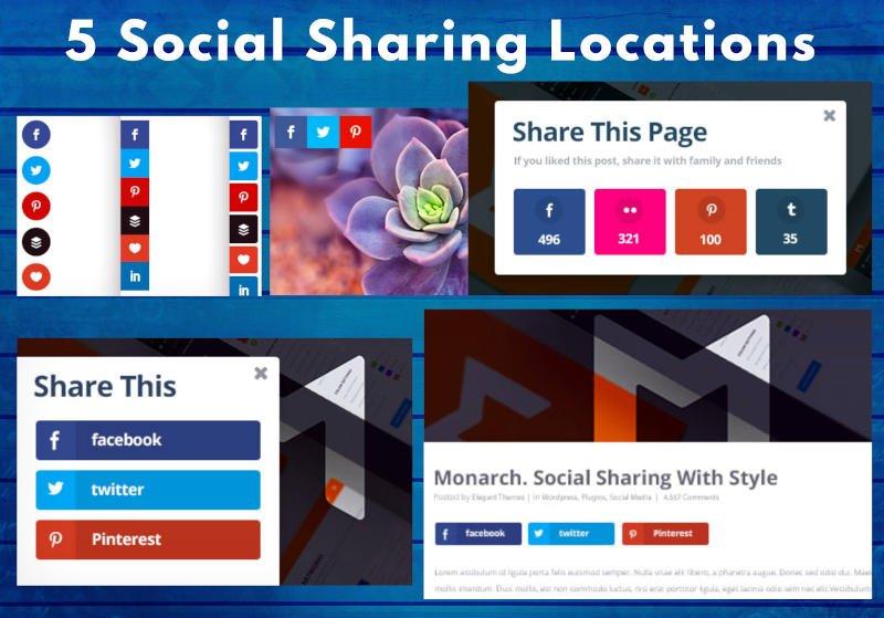 Monarch 5 social sharing locations