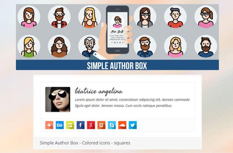 simple author box WordPress plugin