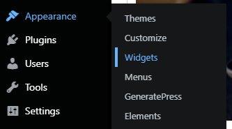 wordpress widegets