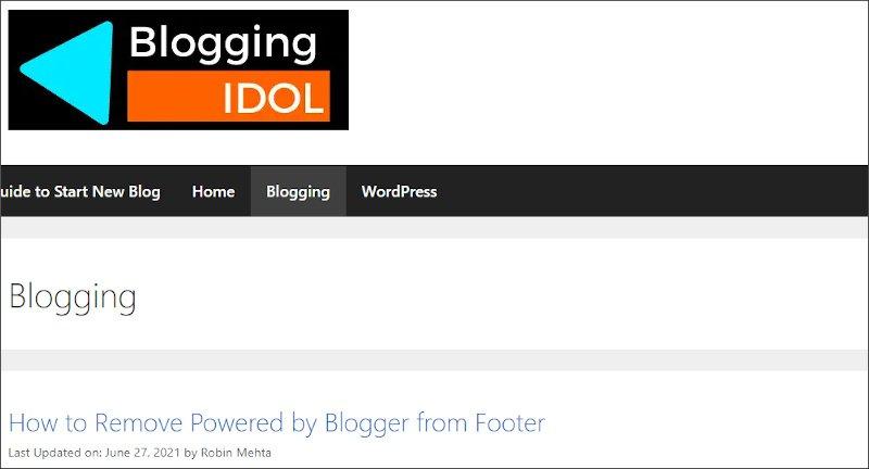 sticky sidebar not shown on blog section