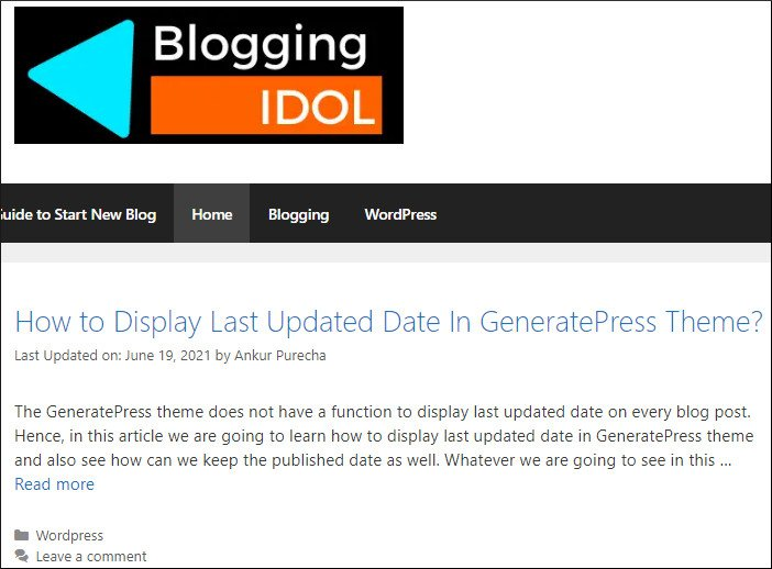 before create sticky floating footer bar in generatepress theme