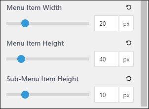 Menu Item Height & Width settings of Secondary Navigation on GP premium