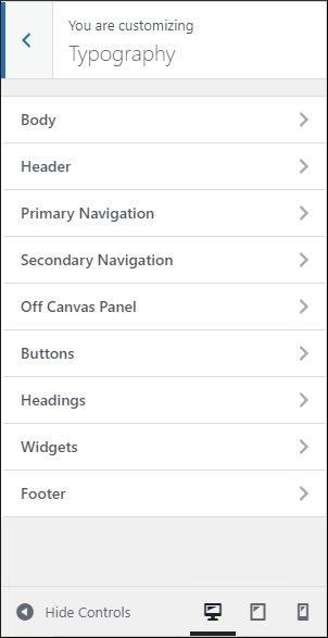 in-depth typography options in GeneratePress premium