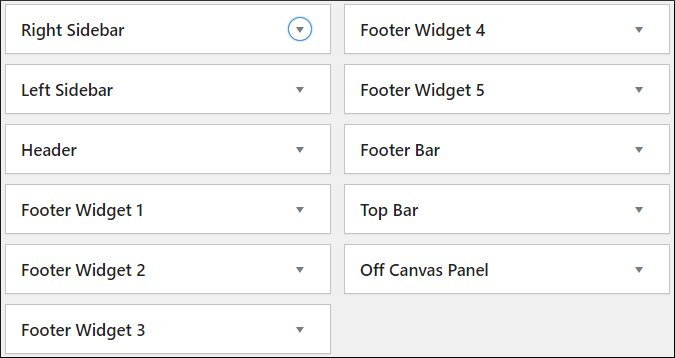 GeneratePress premium theme - Widgets