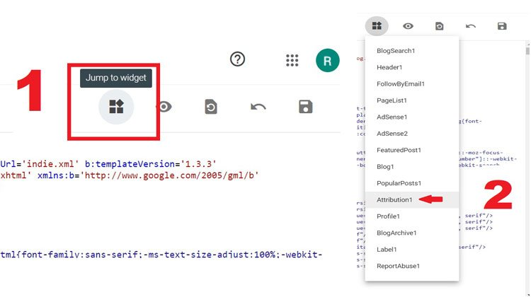 go to attribution1 in html code