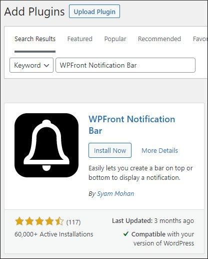 WPFront Notification Bar to create sticky floating footer bar in GeneratePress theme